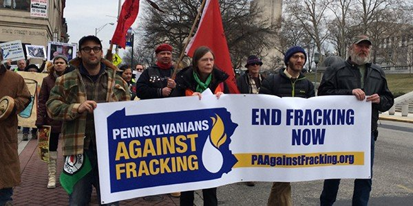 PA Against Fracking Banner at Inauguration